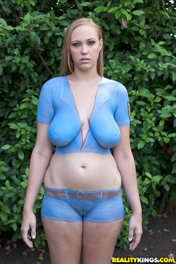 huge tits body paint